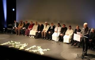 Mgr d'Ornellas lors de la rencontre interreligieuse à Rennes suite aux attentats de Paris